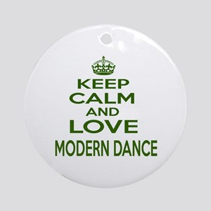 Keep calm and love Log Rolling Round Ornament