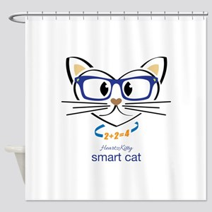 Smart Cat Shower Curtain