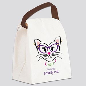 Smarty Cat Canvas Lunch Bag