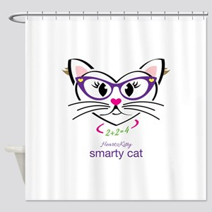 Smarty Cat Shower Curtain