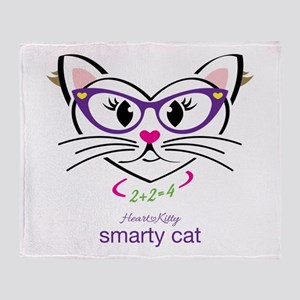 Smarty Cat Throw Blanket