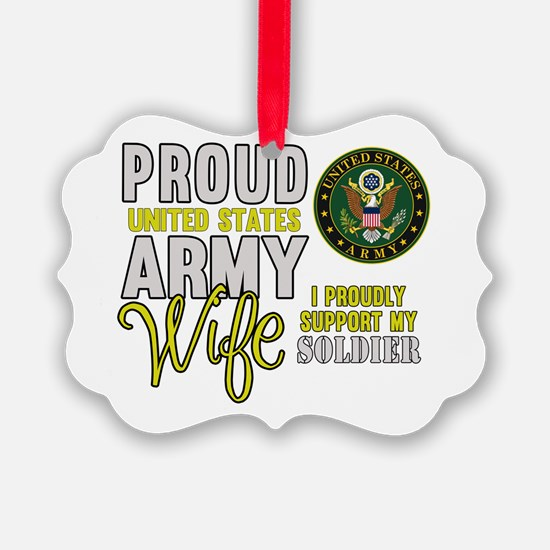 Proud Army WIfe Supporting Ornament