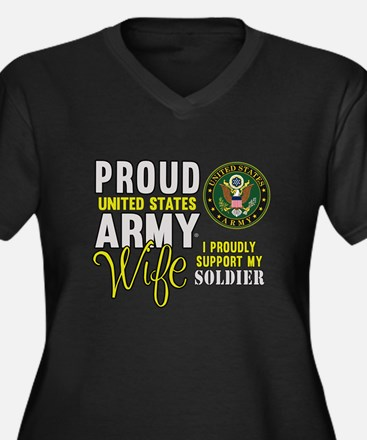 Proud Army WIfe Supporting Plus Size T-Shirt