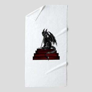 latex dragon Beach Towel