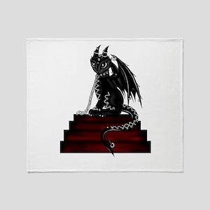 latex dragon Throw Blanket