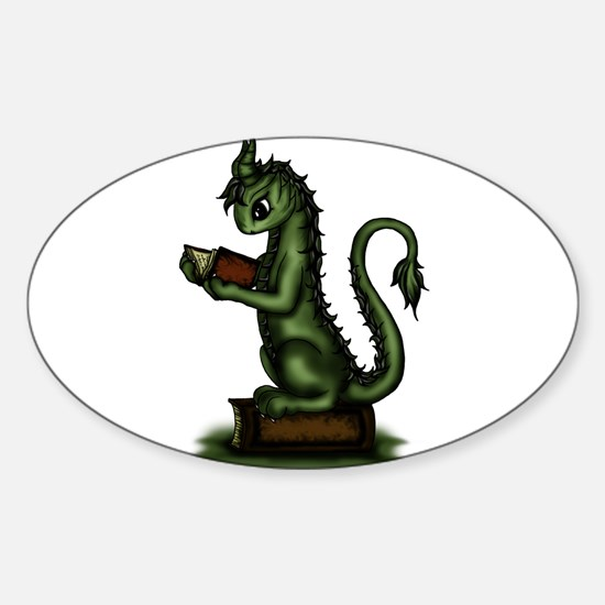 Bookworm Dragon Decal