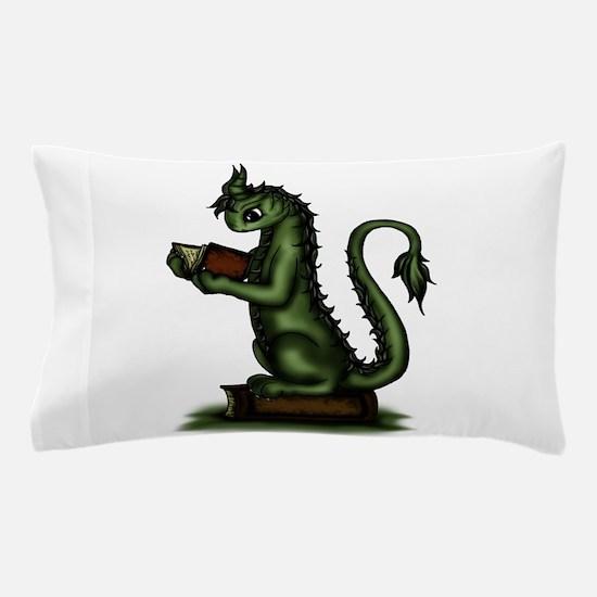 Bookworm Dragon Pillow Case