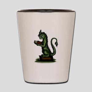 Bookworm Dragon Shot Glass
