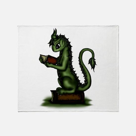 Bookworm Dragon Throw Blanket