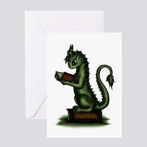 Bookworm Dragon Greeting Cards