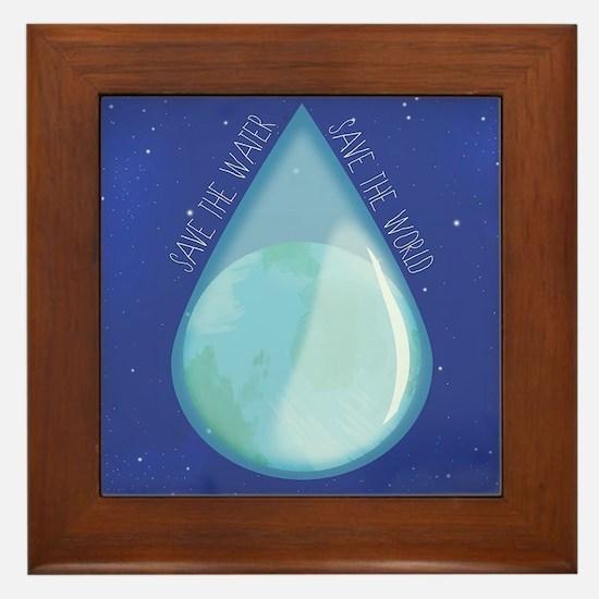 Save water, save world II Framed Tile