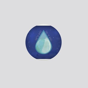 Save water, save world II Mini Button