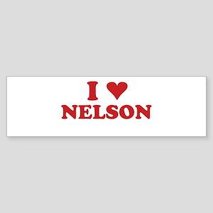 I LOVE NELSON Bumper Sticker