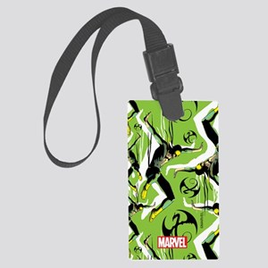 Iron Fist Pattern Large Luggage Tag