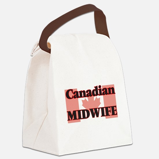 Canadian Midwife Canvas Lunch Bag