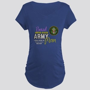 Proud Army Mom Seal Maternity T-Shirt