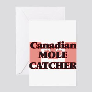 Canadian Mole Catcher Greeting Cards