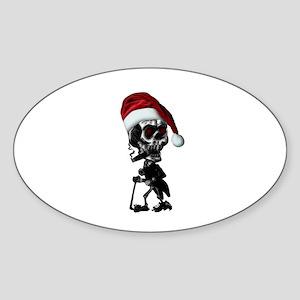 Christmas Cowboy Skeleton Sticker