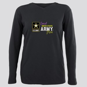 Proud US Army Mom Plus Size Long Sleeve Tee