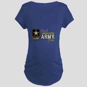 Proud US Army Mom Maternity T-Shirt