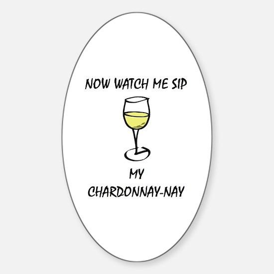 Sip Chardonnay Sticker (Oval)