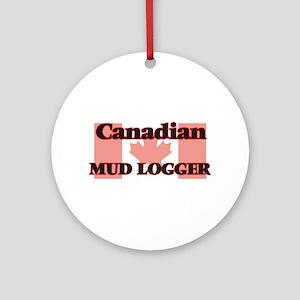 Canadian Mud Logger Round Ornament