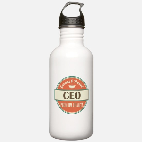ceo vintage logo Water Bottle