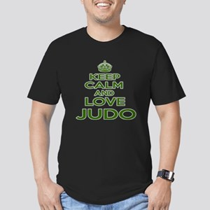 Keep calm and love Jud Men's Fitted T-Shirt (dark)