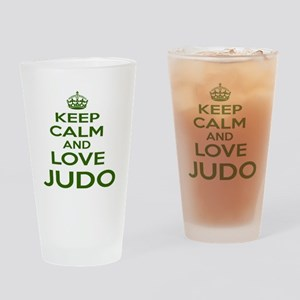 Keep calm and love Judo Drinking Glass