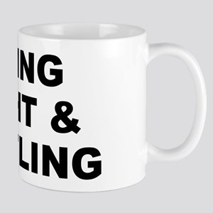 Living Right & Hustling Small White Mug Mugs