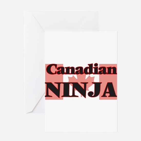 Canadian Ninja Greeting Cards