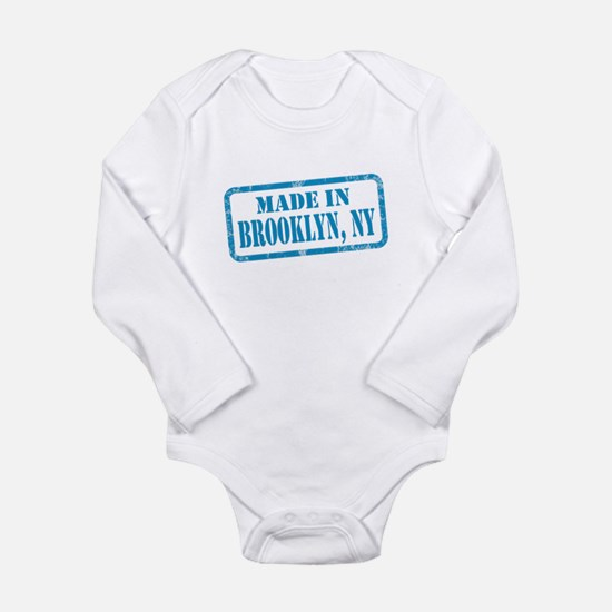 Unique Terryville new york state flag Long Sleeve Infant Bodysuit