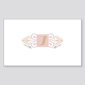 Monogram I Rectangle Sticker