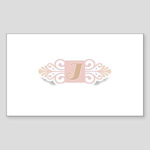 Monogram I Rectangle Sticker