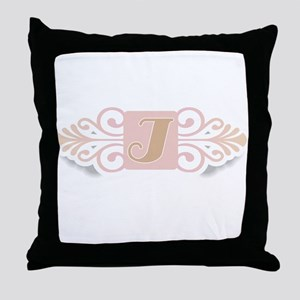 Monogram I Throw Pillow