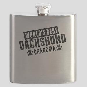 Worlds Best Dachshund Grandma Flask