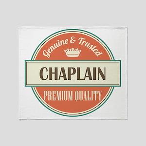 chaplain vintage logo Throw Blanket
