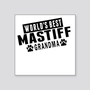 Worlds Best Mastiff Grandma Sticker