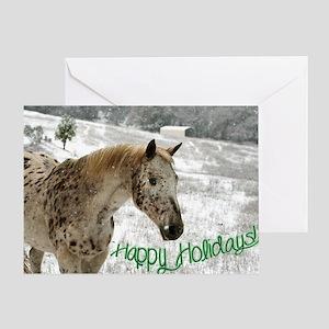 Appaloosa in the Snow Greeting Card
