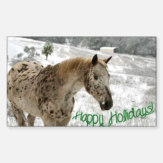Appaloosa in the Snow Sticker (Rectangle)