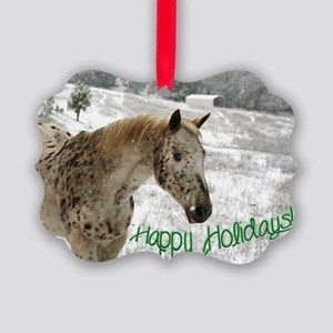 Appaloosa in the Snow Picture Ornament