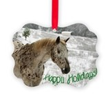 Appaloosa christmas Picture Frame Ornaments