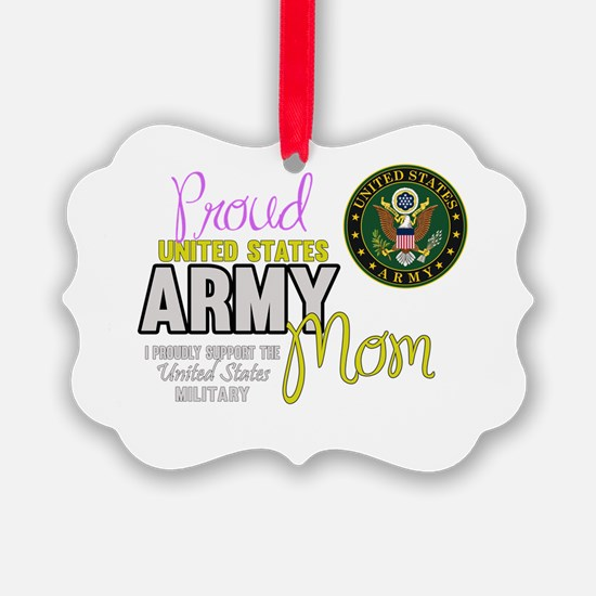Proud Army Mom Seal Ornament