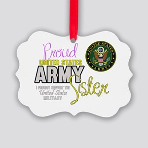 Proud Army Sister Seal Ornament