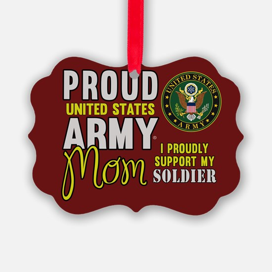 Proud Army Mom Army Seal Ornament