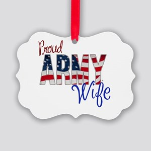 Proud Patriotic Army Wife Ornament