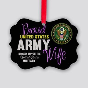Proud Army Wife Seal Ornament