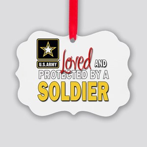 Loved Protected Soldier Ornament