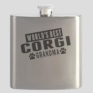 Worlds Best Corgi Grandma Flask