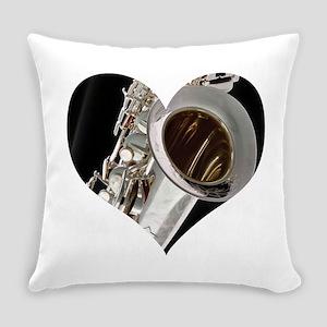 Sax Heart Everyday Pillow